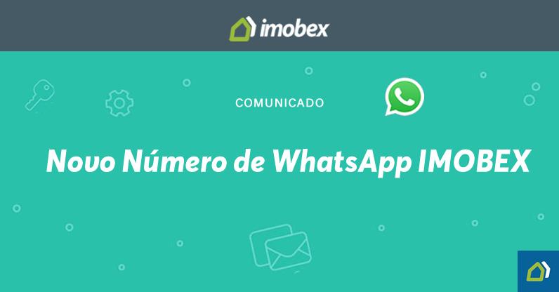 Comunicado • Novo Número WhatsApp
